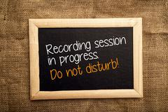 Recording session in progress. Do not disturb. - stock photo
