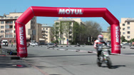 Stock Video Footage of Motobikers riding on Championship, Russia