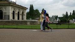 Italian Gardens at Kensington Gardens, The Royal Parks, London Stock Footage