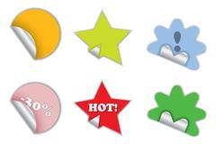 new customizable stickers - stock illustration