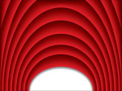 Cool red arch background Stock Illustration
