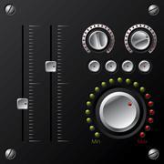 hi-fi knobs with led - stock illustration
