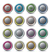 customizable web buttons - stock illustration