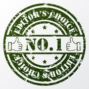 Aged editor's choice seal Stock Illustration