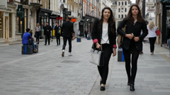 High Fashion Shopping, South Molton Street, London Stock Footage