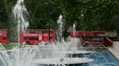 Marble Arch Fountains,  Marble Arch, London, England, United Kindgom Stock Footage