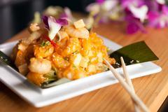 Authentic Thai Shrimp Dish Stock Photos