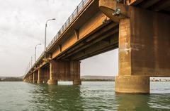 Martyrs Bridge (Pont des martyrs) in Bamako Stock Photos