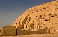 Abu Simbel right outside Stock Photos
