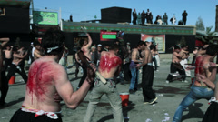 Stock Video Footage of Ashura Festival in Kabul - Shia - 2012
