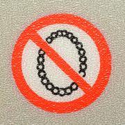do not false teeth sign - stock photo