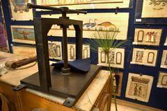 Papyrus printing house Stock Photos