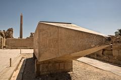 Lying Obelisk - stock photo