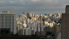 View of the city. Sao Paulo, Brazil. Time lapse rolling clouds. 4k (4096 X 2304) Stock Footage