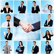 Stock Photo of Collage of elegant businessmen and women