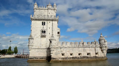 The Belem Tower in Lisbon, Portugal. Stock Footage