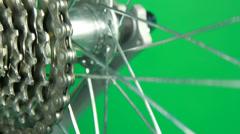 Loop chain gear rotate Stock Footage