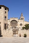 Abbey of Sant Cugat - stock photo