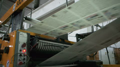 Printing of newspapers in the production Stock Footage