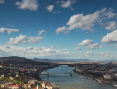 Budapest cityscape timelapse - 4K Stock Footage