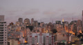 View of the city at sunset. Sao Paulo, Brazil. Day to night. Timelapse Footage