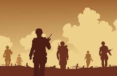 Stock Illustration of on patrol