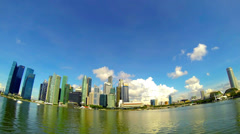 4K (3840 x2160) Singapore cityscape time lapse. View from Marina Bay. Stock Footage