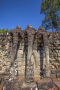 Angkor Archaeological Park - stock photo