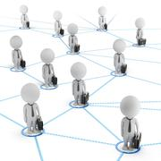 Stock Illustration of 3d small people - business network