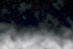 night clouds - stock illustration