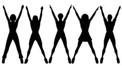 aerobics - stock illustration