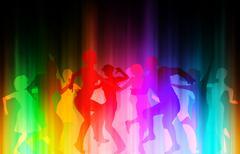color disco - stock illustration