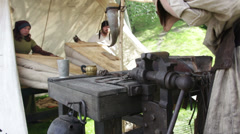 Medival blacksmiths in Prague Stock Footage
