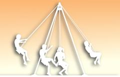 swings cutout - stock illustration