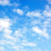 fluffy clouds - stock illustration