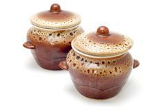 ceramics jugs - stock photo
