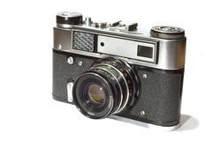 reflex camera - stock photo