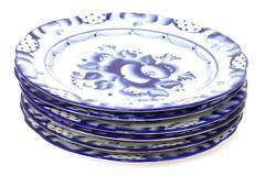 Blue plates - stock photo