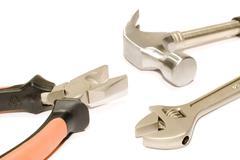 Close up tool kit - stock photo