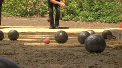 Jeux de boules Stock Footage