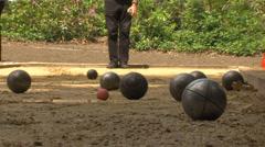 Jeux de boules petanque Stock Footage