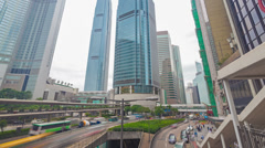 4k hyperlapse video of busy traffic in Hong Kong in the daytime - stock footage