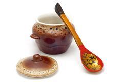 earthenware crockery - stock photo