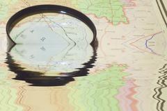 Route navigation Stock Photos