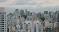 View of the city. Sao Paulo, Brazil. Time lapse rolling clouds. 4k (4096 X 2304) 4k or 4k+ Resolution