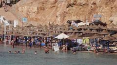 A beach near El Fanar, Sharm El Sheikh, Egypt Stock Footage