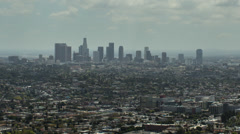 Stunning time lapse of downtown Los Angeles from Griffith Park Stock Footage