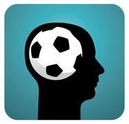 Soccer ball brains Stock Illustration