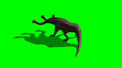 Stock Video Footage of hydra roar - green screen