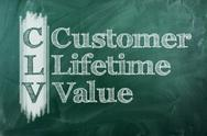 Stock Illustration of custumer lifetime value